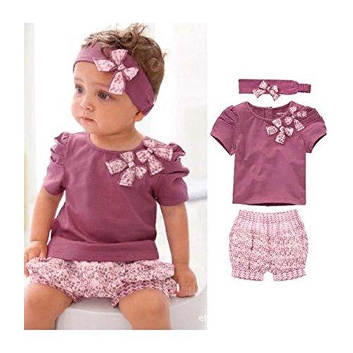 7f26770c1 GenialES 3pcs Conjuntos de Camiseta Pantalones Cortos y Banda del ...