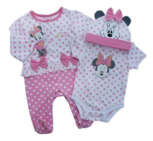 Disney 4 piezas set Minnie Mouse Bebé Niña Manga Corta Body Con Pantalón A  Juego y top – algodón 2e0185bc37d4