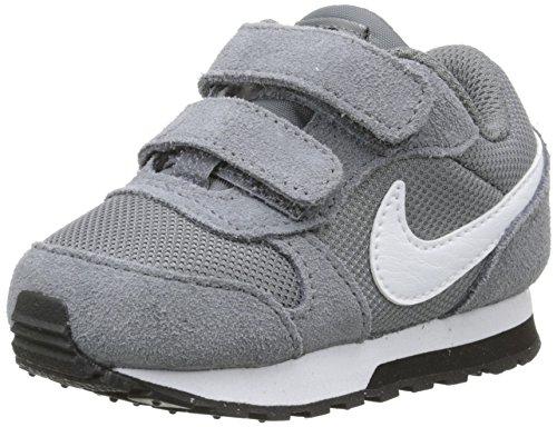 fe2368b3 Nike MD Runner 2 (TDV) Zapatillas, Bebé-niños, Gris / Blanco / Negro, 26