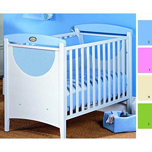 Cuna eco modelo azul blanco con nombre personalizado - Tiendas de cunas en madrid ...