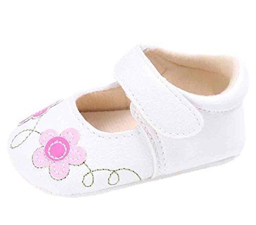 c15f7824 Zapatos de bebé, Switchali zapatos bebe niña Princesa verano Recién nacido  Niña Cuna Suela blanda Antideslizante Zapatillas Bebé niña Flor vestir  casual (11 ...