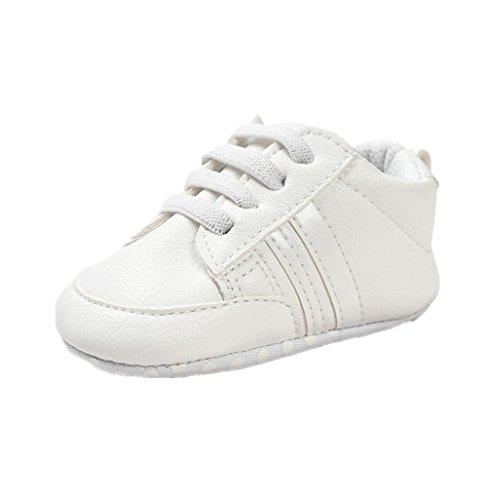 b9dff73c4 Auxma Zapatos Para Bebé Zapatillas Bebé Niño Niña Zapatillas Bebé Prewalker  de Cuero PU Por 3-6 6-12 12-18 Mes (11cm 3-6 M