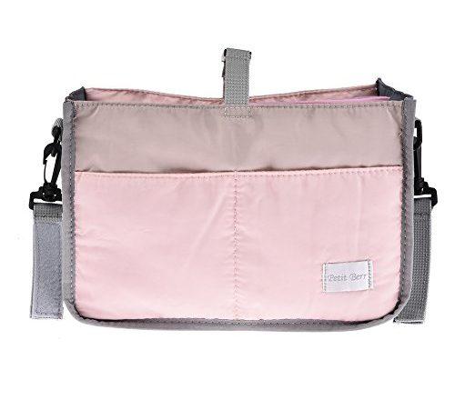 Bolso carrito bebe Accesorios para cochecito de beb/é Bolsa para el carro de beb/é Bolsa de nailon con cremallera Bolsa de viaje Azul 28 x 16.5 x 8.5cm